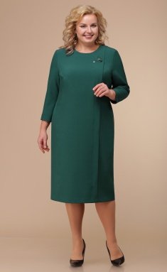 Dress Linia L B-1764 ottenki zelenogo