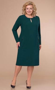 Dress Linia L B-1770 zeleno-sin temnyj