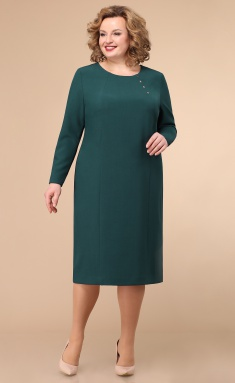 Dress Linia L B-1777 zeleno-sin temnyj
