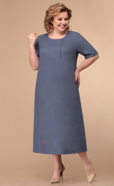 Dress Linia L B-1788 ottenki sinego