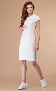 Dress Linia L B-1818 moloko / gorch