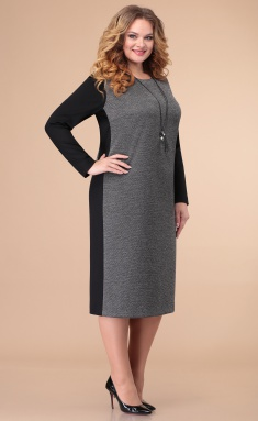 Dress Linia L B-1835 chern/ser