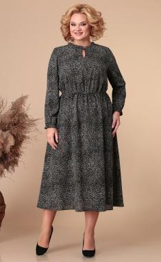 Dress Linia L B-1885 chern s printom