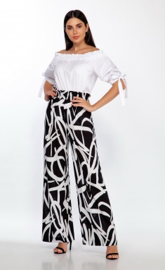 Trousers LaKona Br85 chern/bel