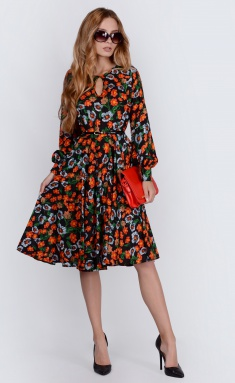 Dress La Café by PC C14629 chern,oranzh