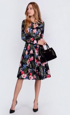 Dress La Café by PC C14629 chern,roz,zel