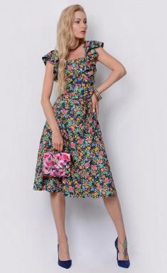 Dress Sale F14864 denim,fuksiya,salatovyj