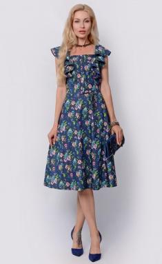 Dress La Café by PC F14864 indigo,gol,bel