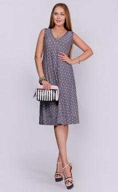 Dress La Café by PC NY1339-1 chern,roz,bel
