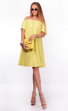Dress La Café by PC F14264 svetlo-zheltyj