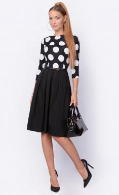 Dress La Café by PC F14641 glubokij chern,bel,chern