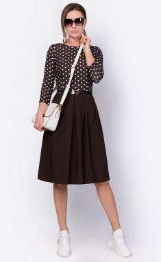Dress La Café by PC F14641 korichn,bel,korichn