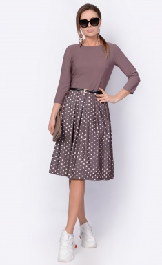 Dress La Café by PC F14641 mokko,shampan