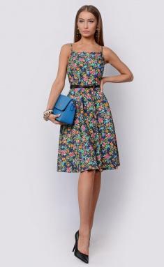 Dress Sale F14788 indigo,gol,roz