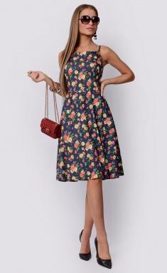 Dress La Café by PC F14788 indigo,zel,lososevyj