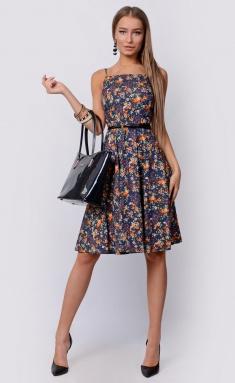Dress La Café by PC F14788 indigo,zheltyj,bel