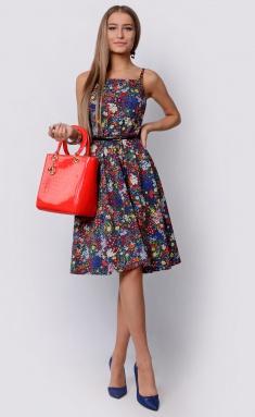 Dress La Café by PC F14788 indigo,zheltyj,kr