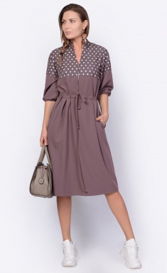 Dress La Café by PC F14995 mokko,mol