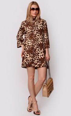 Dress La Café by PC F15026 chern,mol,korichn