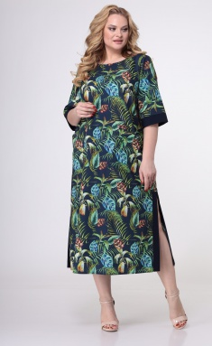 Dress Trikotex-Style M 0821 sinij