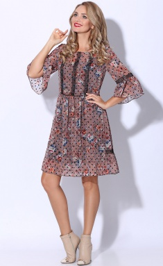 Dress LeNata 11081 roz s chernym goroshkom