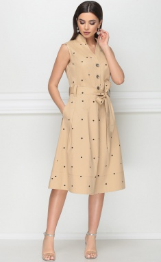 Dress LeNata 12014 pesochnyj v gorox