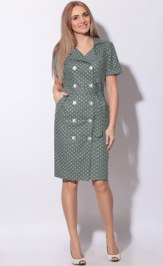 Dress LeNata 11015 na zelenom gorox