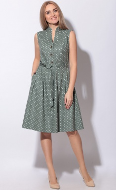 Dress LeNata 11014 na zelenom gorox