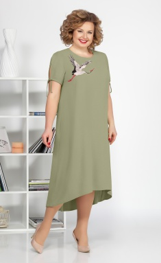 Dress Ivelta plus 1684 xaki