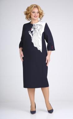 Dress Ivelta plus 1775 temno-sin
