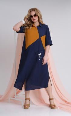 Dress Ivelta plus 1743 sin-oranzh