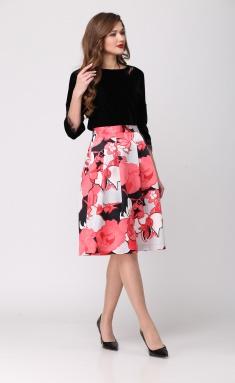 Skirt Djerza 0121 korall/chern