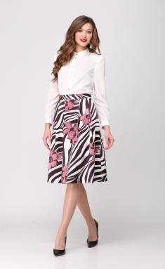 Skirt Djerza 0121 fiol/molochn