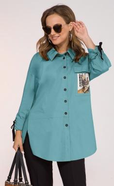 Shirt Inpoint 047 akva bluzka