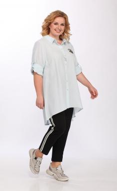 Blouse LS 094 golubaya bluza
