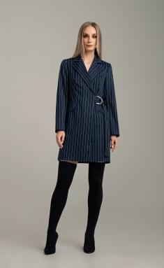 Dress MARIKA 415/1 t. sin v polosku