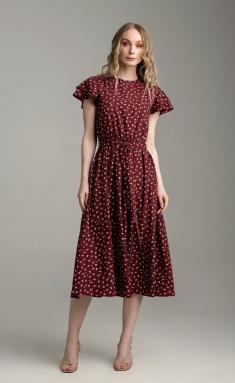 Dress MARIKA 421 bordo