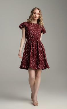 Dress MARIKA 422 bordo