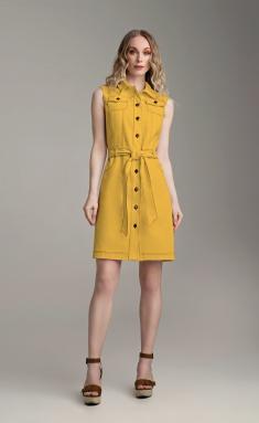 Dress MARIKA 427 gorchica