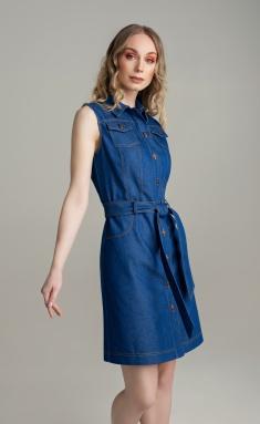 Dress MARIKA 427 t.sinij