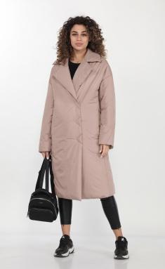 Coat DOGGI 6300 bezh-roz