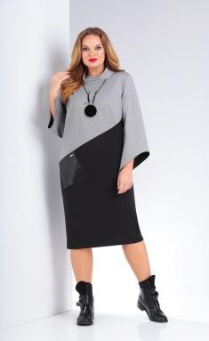 Dress Vilena-fashion 678 ser+chern