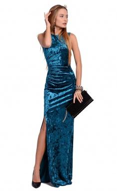 Dress La Café by PC NY1368-2 izumr,morskaya volna