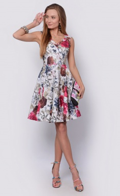 Dress La Café by PC F14593-7 mol,ser,purpurnyj
