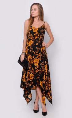 Dress La Café by PC NY14635 chern,oranzh