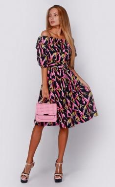 Dress La Café by PC NY14644 chern,fuksiya,zheltyj