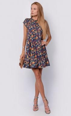 Dress La Café by PC NY14810 indigo,kr,zheltyj