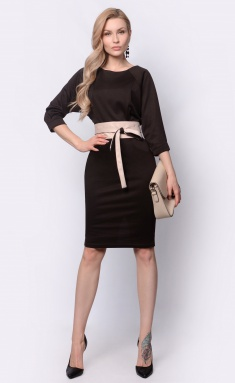 Dress La Café by PC NY14819-21 korichn/mol