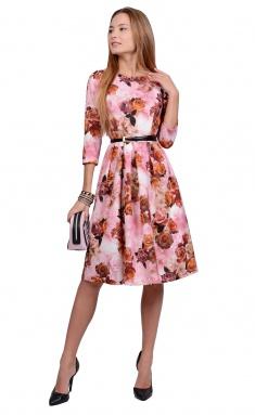 Dress La Café by PC NY1692 roz,korichn