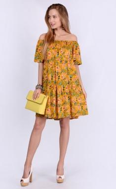 Dress La Café by PC NY1814 svetlo-oranzh,gol